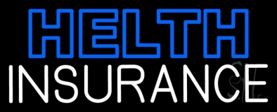 Double Stroke Health Insurance Neon Sign