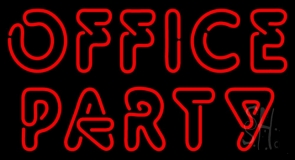 Red Office Party Neon Sign