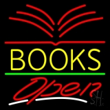 Yellow Books Open Neon Sign