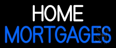 Home Mortgage Neon Sign