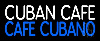 Cuban Cafe Block Neon Sign