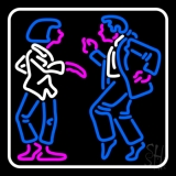 Dancing Couple With White Border Neon Sign