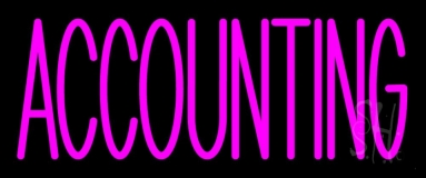 Pink Accounting Neon Sign