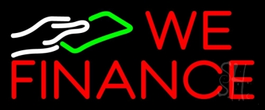 We Fianance Note Logo 1 Neon Sign