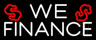 We Finance Dollar Logo 1 Neon Sign