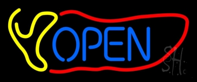 Red Chili Open Neon Sign