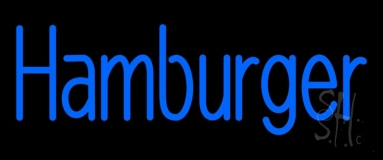 Blue Hamburger Neon Sign