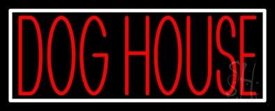 Dog House Block 2 Neon Sign