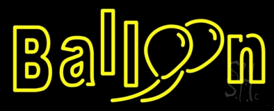 Double Stroke Yellow Balloon Neon Sign