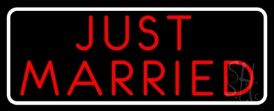 Red Just Married Neon Sign