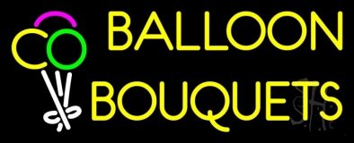 Yellow Balloon Bouquets Neon Sign