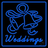 Blue Border Weddings Bell Neon Sign