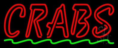 Double Stroke Red Crab Neon Sign