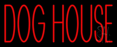 Dog House Block Neon Sign