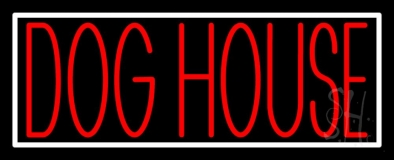 Dog House Block 1 Neon Sign