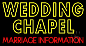 Double Stroke Wedding Chapel Marriage Information Neon Sign