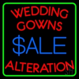 Green Border Wedding Gowns Alteration Neon Sign