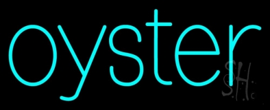 Oysters Turquoise Neon Sign
