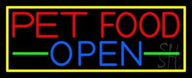 Pet Food Open Neon Sign
