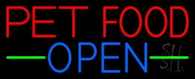 Pet Food Open 1 Neon Sign