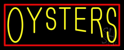 Red Oysters Block 1 Neon Sign