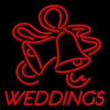 Red Weddings Bell Neon Sign