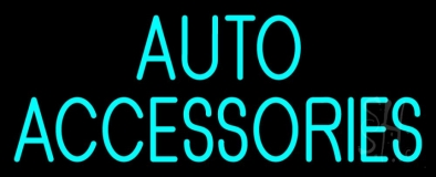 Auto Accessories Block Neon Sign