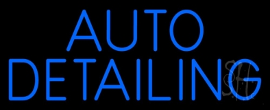 Auto Detailing Blue Neon Sign