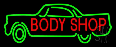 Body Shop Car Logo Neon Sign