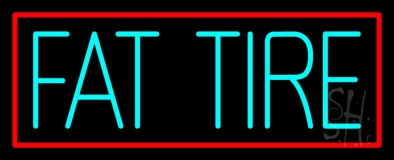 Turquoise Fat Tire Neon Sign