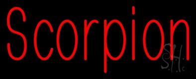 Scorpion Red 1 Neon Sign