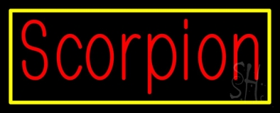Scorpion Red 2 Neon Sign