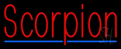 Scorpion Red 3 Neon Sign