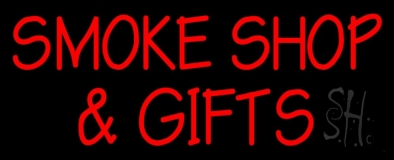 Red Smoke Shop And Gifts Neon Sign