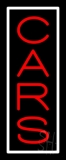 Vertical Red Cars Neon Sign