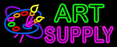 Art Supply With Logo Neon Sign