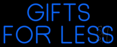 Blue Gifts For Less Block Neon Sign