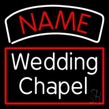 Custom White Wedding Chapel With Border Neon Sign