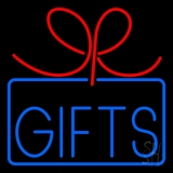 Gifts Blue Border Neon Sign