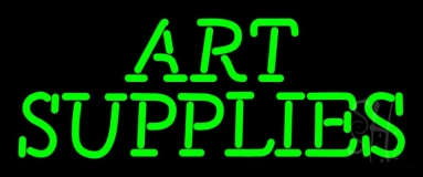 Green Art Supplies 1 Neon Sign