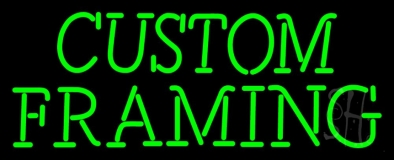 Green Custom Framing Neon Sign