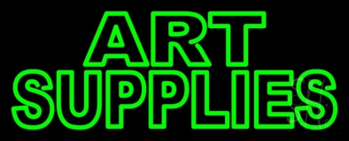 Green Double Stroke Art Supplies 1 Neon Sign