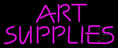Pink Art Supplies Block Neon Sign