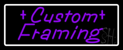 Purple Custom Framing Neon Sign