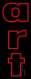 Red Double Stroke Art 3 Neon Sign