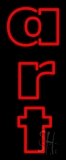 Red Double Stroke Art 4 Neon Sign