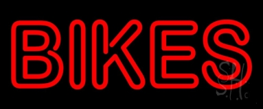Red Double Stroke Bikes Neon Sign