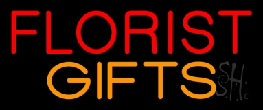 Red Florist Gifts Neon Sign