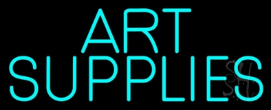 Turquoise Art Supplies Neon Sign