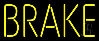 Yellow Brake Neon Sign